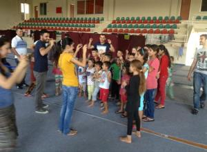 Refugee pic 2 - kids program in shelter